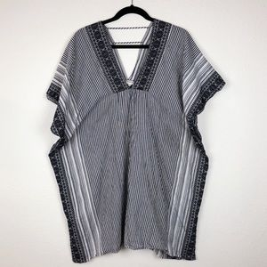 Athleta Indigo heirloom tunic kaftan coverup